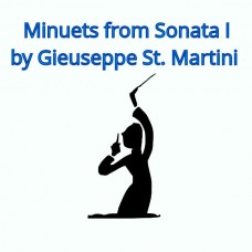 Minuet 1 and 2 from Sonata I by Giuseppe St. Martini