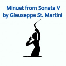 Minuet from Sonata V by Giuseppe St. Martini