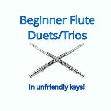 Five Beginner Flute Duets/Trios in Un-Friendly Keys!